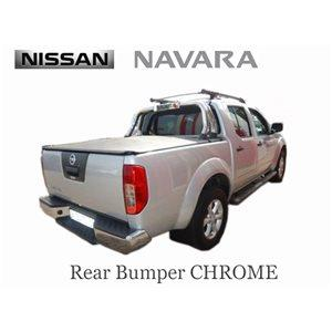 NISSAN NAVARA 2007- REAR BUMPER CHROME