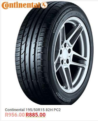 Continental 195/50R15 82H PC2